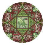 Celtic Dragon Labyrinth Classic Round Sticker