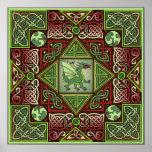 Celtic Dragon Labyrinth Fine Art Poster