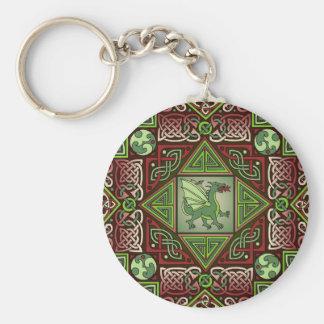 Celtic Dragon Labyrinth Keychains