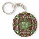 Celtic Dragon Labyrinth Keychain
