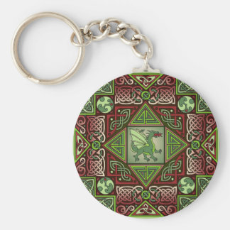 Celtic Dragon Labyrinth Keychain