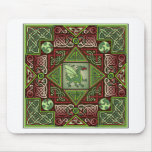 Celtic Dragon Labyrinth Mouse Pad