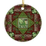 Celtic Dragon Labyrinth Ornament