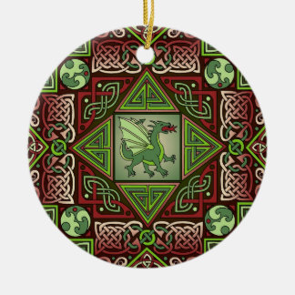 Celtic Dragon Labyrinth Ornament