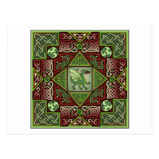 Celtic Dragon Labyrinth Postcard
