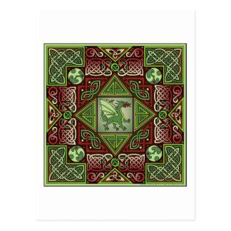 Celtic Dragon Labyrinth Postcard