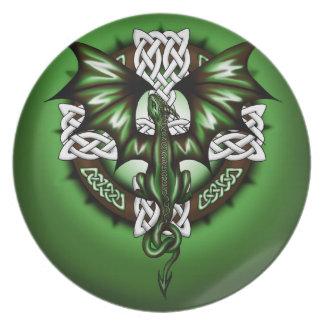celtic Dragon Melamine Plate