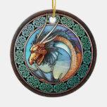 Celtic Dragon Pendant/Ornament Ceramic Ornament