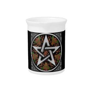 Celtic Dragon Pentagram Beverage Pitchers