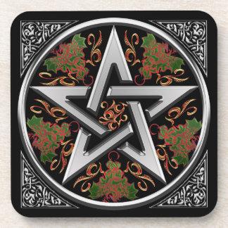 Celtic Dragon Pentagram Drink Coaster