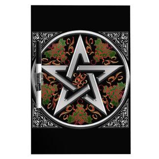 Celtic Dragon Pentagram Dry-Erase Board