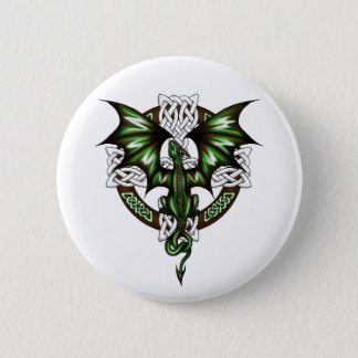 celtic Dragon Pinback Button