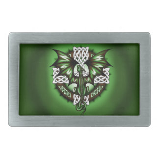 celtic Dragon Rectangular Belt Buckle