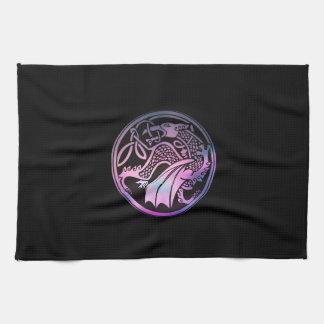 Celtic Dragon Round Towel