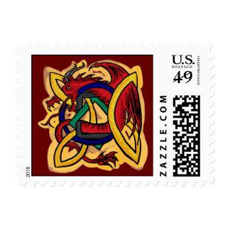 Celtic dragon stamp