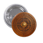 Celtic Dragon Targe 1 Inch Round Button