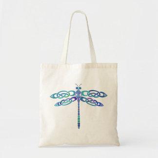 Celtic Dragonfly Budget Tote Bag