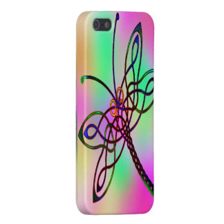 Celtic Dragonfly Light Cover For iPhone SE/5/5s