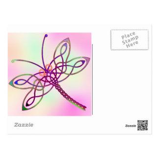 Celtic Dragonfly Light Postcard