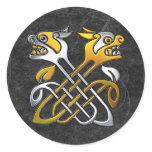 Celtic Dragons Classic Round Sticker