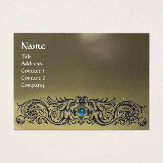 CELTIC DRAGONS MONOGRAM AGATE grey blue sapphire Business Card