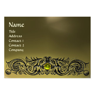 CELTIC DRAGONS MONOGRAM AGATE grey yellow topaz Large Business Card