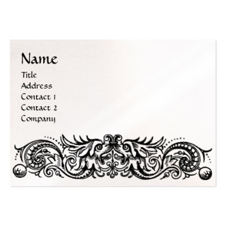 CELTIC DRAGONS MONOGRAM pearl paper Large Business Card