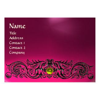 CELTIC DRAGONS MONOGRAM  TOPAZ  pink amethyst Large Business Card