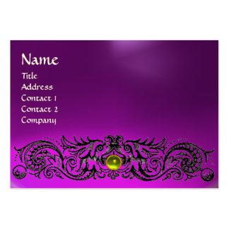 CELTIC DRAGONS MONOGRAM  TOPAZ  purple amethyst Large Business Card
