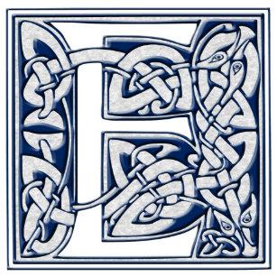 Celtic E Monogram Tile