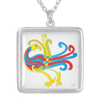 Celtic eagle - celtic eagle square pendant necklace