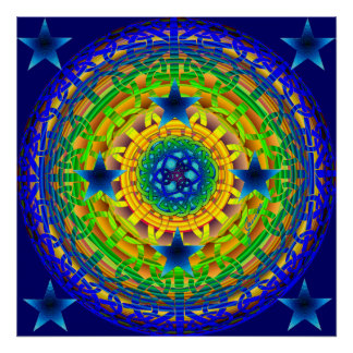Celtic Earth Orb Midnight Print