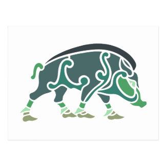 Celtic Eber celtic boar Postcards