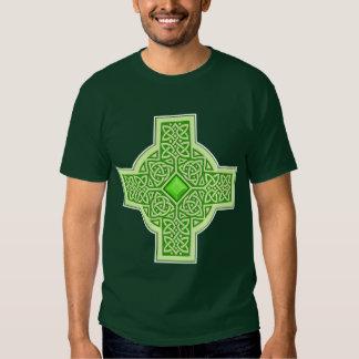 Celtic Emerald Cross Tee Shirt