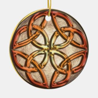 Celtic Enamel Knotwork Ornament