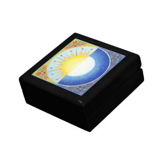 Celtic Equinox Sun and Moon Keepsake Box
