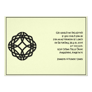 Celtic Eternity Knot in Black and Mythic Ivory Card