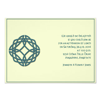Celtic Eternity Knot in Teal and Mythic Ivory Card