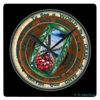 Celtic Eternity Square Wall Clock