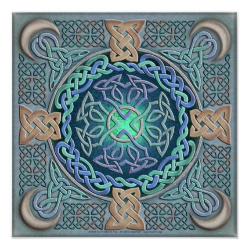 Celtic Eye of the World Fine Art Poster