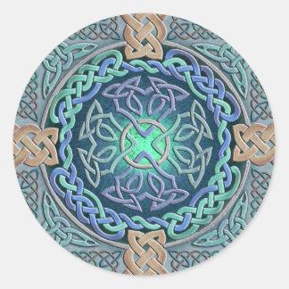 Celtic Eye of the World Classic Round Sticker