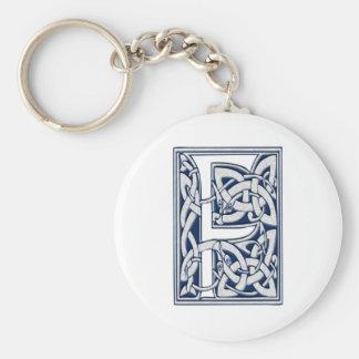Celtic F Monogram Basic Round Button Keychain