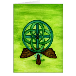 Celtic Faerie Blank Greeting Card