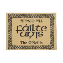 Celtic Fáilte/Slán (Welcome/Good by) personalized Doormat