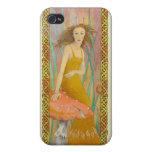 celtic fairy in orange iPhone 4 case