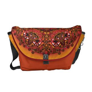 Celtic Fall Fairy Mandala Messenger Bag