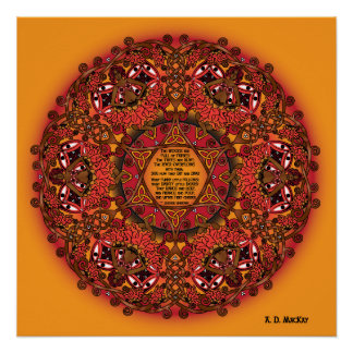 Celtic Fall Fairy Mandala Perfect Poster