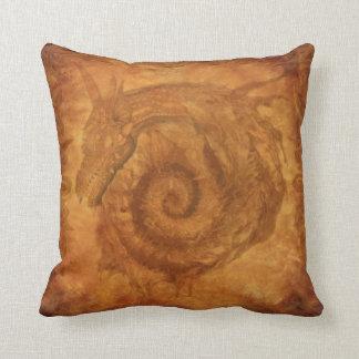 Celtic Fantasy Spiral Dragon Throw Pillow