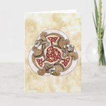 Celtic Ferret Triskel Card