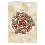 Celtic Ferret Triskel Greeting Card